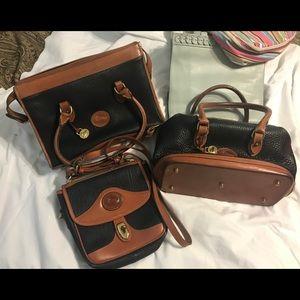 3 Vintage Dooney & Burke Purses & Wallet